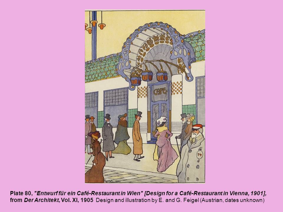 Plate 80, Entwurf für ein Café-Restaurant in Wien [Design for a Café-Restaurant in Vienna, 1901],